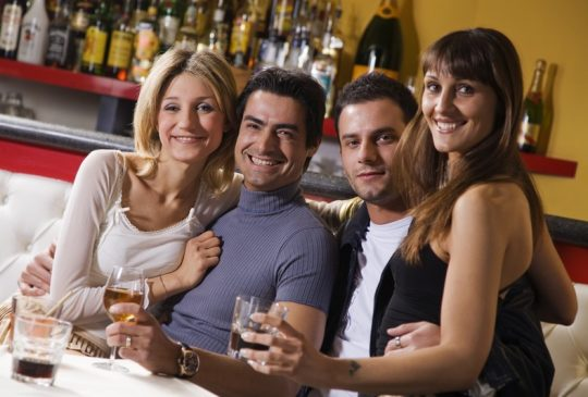 2 couples in bar