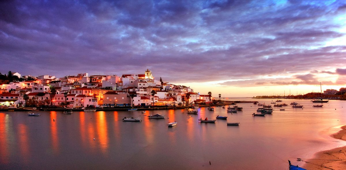 Ferragudo-at-Sunset-
